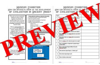 Ancient India - Museum Project w/ Rubrics - PDF