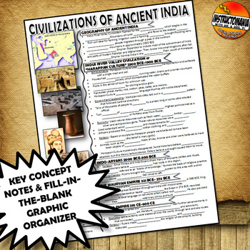 Ancient India CLOZE Notes & Graphic Organizer