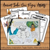 Ancient India One Pager Activity  Ancient Civilizations On