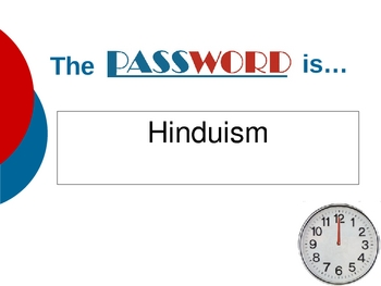 Ancient India Password Game- Power Point