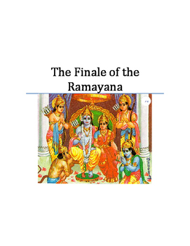Ancient India Play: The Finale of the Ramayana