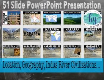 Ancient India PowerPoint and Guided Notes {Harappa, Maurya, Gupta}