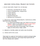 Ancient India Project