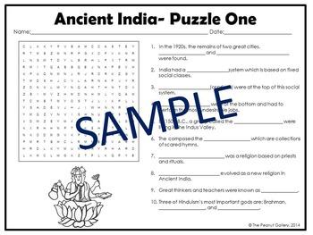 Ancient India Puzzles