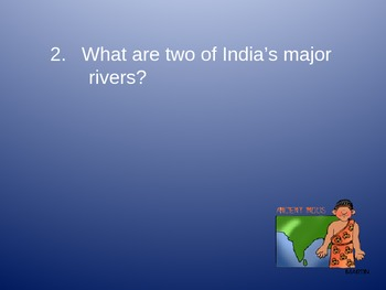 Ancient India Review Quiz Powerpoint