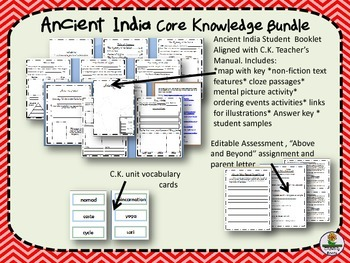 Ancient India Second Grade Core Knowledge Bundle with work samples