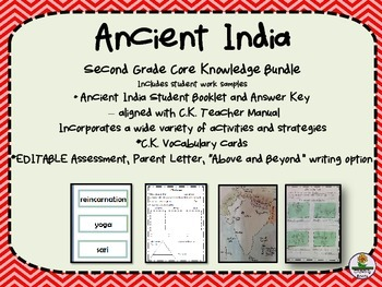 Ancient India Second Grade Core Knowledge Bundle with work