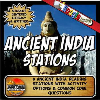 Ancient India Stations with Key Questions Graphic Organizer