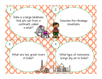Ancient India Task Cards