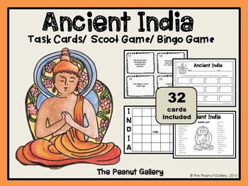 Ancient India Task Cards & Bingo Game
