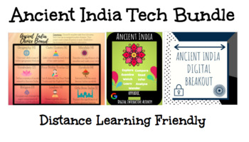 Ancient India Technology Bundle: Breakout, Hyperdoc, and Choice Board