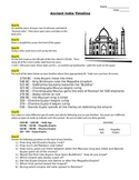 Ancient India Timeline  NO PREP
