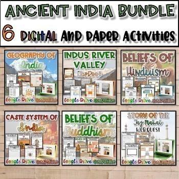 Ancient India Unit Bundle {Digital AND Paper}