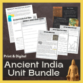 Ancient India Unit Bundle: PowerPoint, Test, Readings, Bell Ringers & Activities