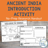 Ancient India Unit Introduction Activity