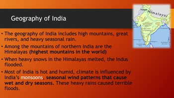 Ancient India Unit (Powerpoint, guided notes, and chapter test)