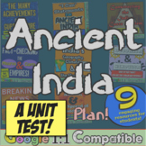 Ancient India Test! 33 questions to accompany India Unit from History with Mr E!