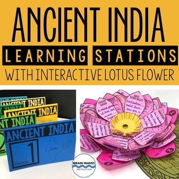 Ancient India Unit with Learning Stations and Interactive Project