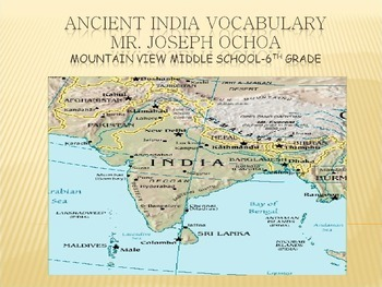 Introduction to Ancient India Vocabulary