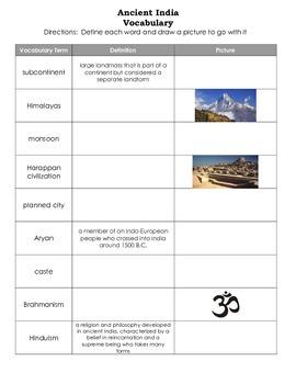 Ancient India Vocabulary