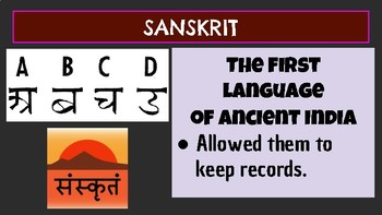 Ancient India Vocabulary