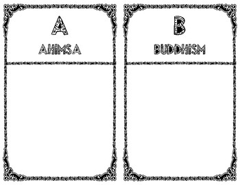 Ancient India - Vocabulary Booklet Project