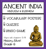 Ancient India - Vocabulary Posters, Quizzes, Bingo Game