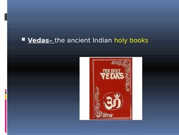 Ancient India Vocabulary Presentation