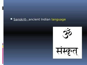 Ancient India Vocabulary Presentation