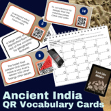 Ancient India Vocabulary QR Code Cards
