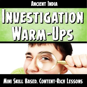 Ancient India Warm-Ups Skill Based, Content Mini Lessons