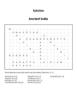 Ancient India Word Search