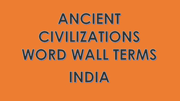 Ancient India Word Wall Cards