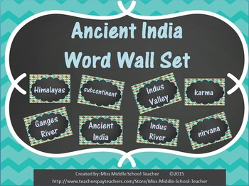 Ancient India Word Wall Set