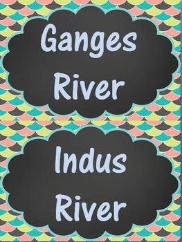 Ancient India Word Wall Set