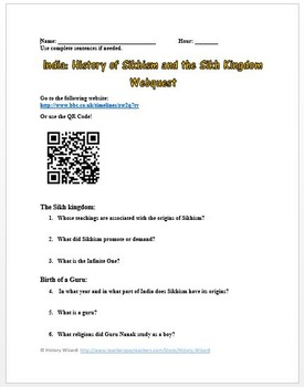 India: History of Sikhism and the Sikh Kingdom Webquest