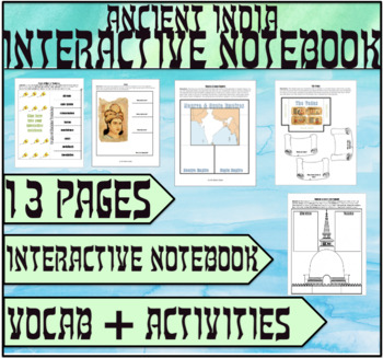 Ancient Indian Civilizations Interactive Notebook
