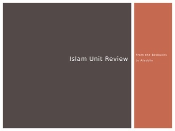 Ancient Islam Unit Review PowerPoint