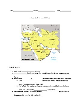 Ancient Islam Unit Study Guide