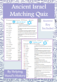 Ancient Israel Activity Matching with Answer Key