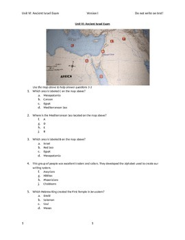Ancient Israel Exam