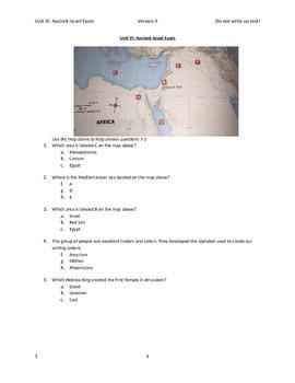 Ancient Israel Exam