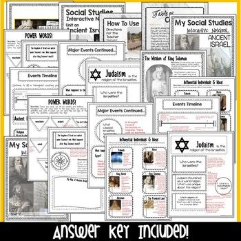 Ancient Israel Interactive Notebook - Ancient Civilizations