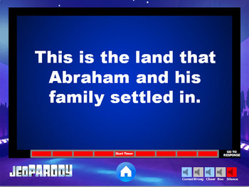Ancient Israelites: JeoPARODY Game