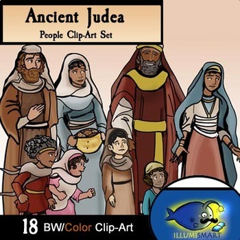 Ancient Judea/ Bible Times People- 18 Piece Clip-Art BW/Color