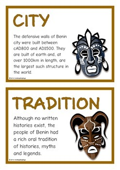 Ancient Kingdom of Benin Fact Cards