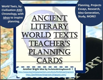 Ancient Literary World Texts - Teacher Planning Cards