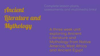 Ancient Literature and Mythology Unit