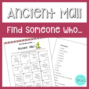 Ancient Mali Find Someone Who...