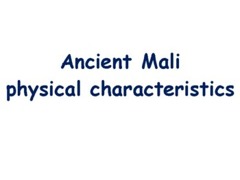 Ancient Mali Flashcards - task cards, study guide, state exam prep 2017 2018